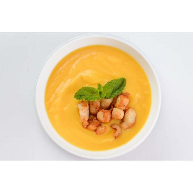 Суп-пюре со сладкой кукурузой и куриным филе